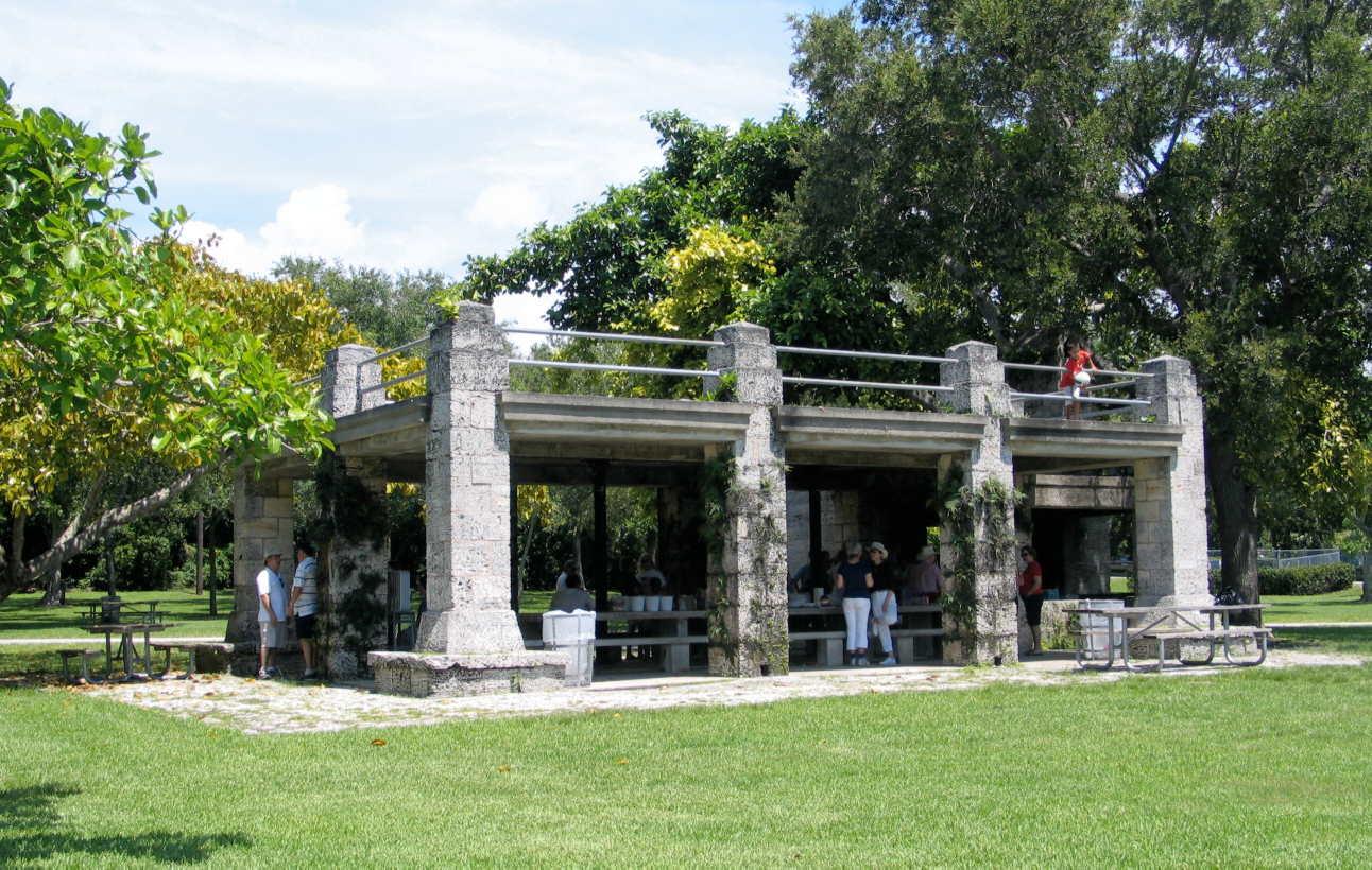 Lime stone picnic area