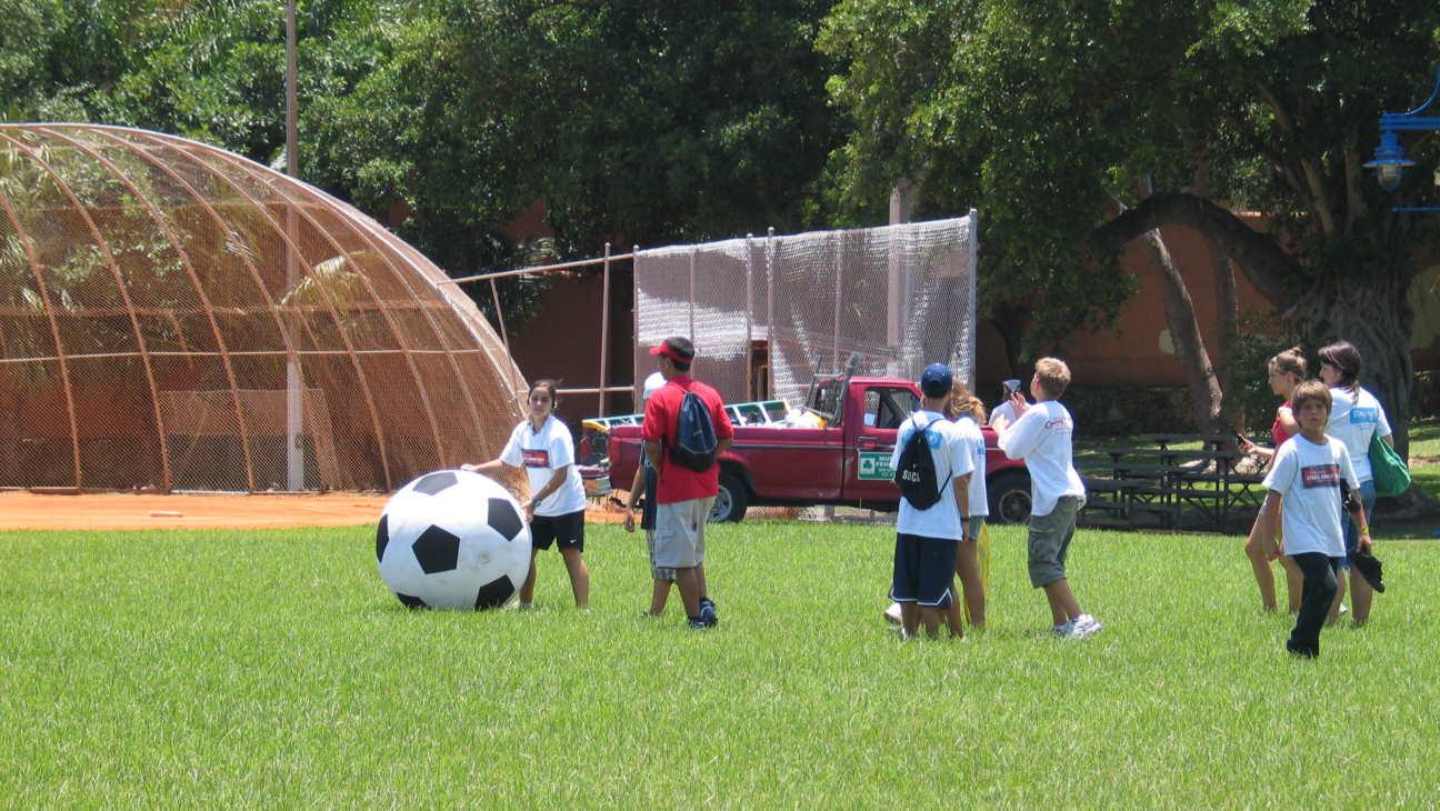 Soccer under the Hot Sun