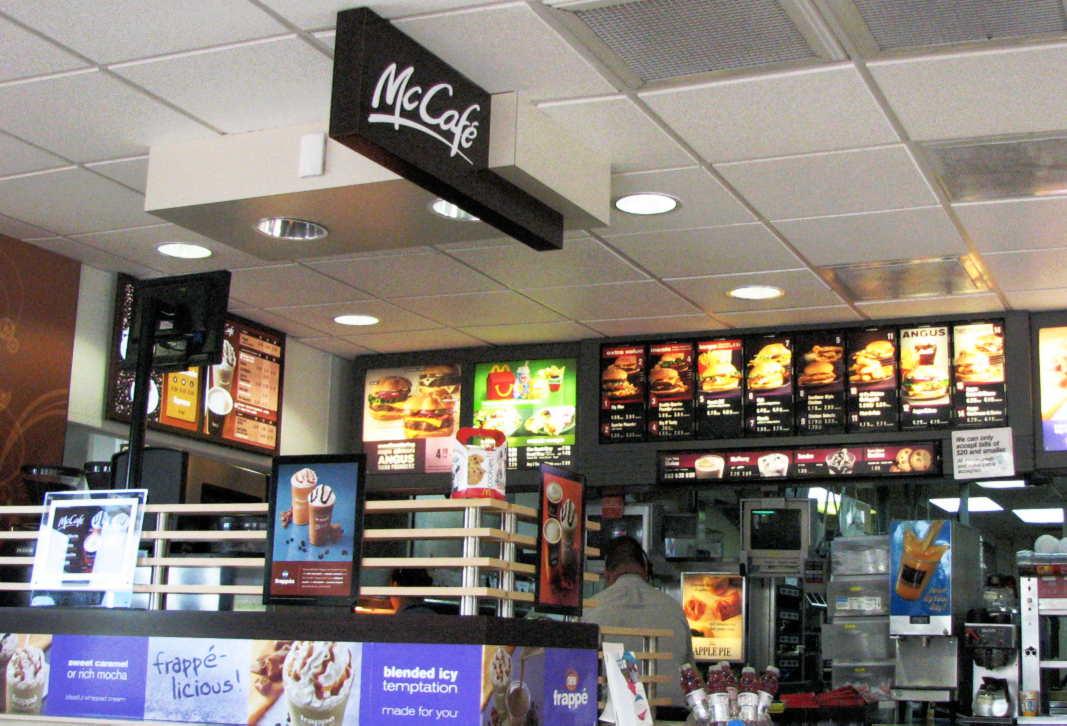 At McDonald